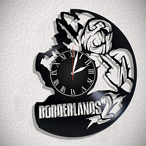 BombStudio Borderlands 2 Vinyl Record Wall Clock, Borderlands 2 Handmade for Kitchen, Office, Bedroom. Borderlands 2 Ideal Wall Poster ()