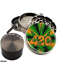 Take 420 Leaf Design Large Size Zinc Grinder With Your Name FREE - Gift Pack Item # 111315-160 discount