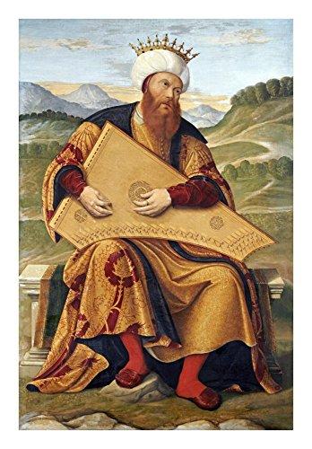 King David Playing a Psaltery