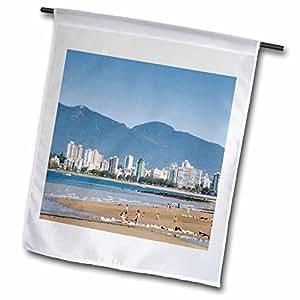 Danita Delimont - British Columbia - Kitsilano Beach, English Bay, Vancouver, British Columbia-CN02 TWE0048 - E. O. Reed - 18 x 27 inch Garden Flag (fl_70803_2)