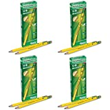 Dixon Ticonderoga Woodcase Beginner Pencil, 2 HB, Yellow, 12 Count - 4 Pack