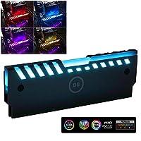 LEDdess Aluminum Alloy RAM Cooling Shell Heat Sink RGB 265 Light Effect Memory Cooling Radiator Glow Desktop Memory Cooling Vest(M Series)