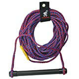 Kwik Tek 1-Section Water Ski Rope with Aluminum Handle with End Caps, 75-Feet