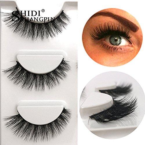 casa shop 3 Pairs False Eyelashes (Short Setback)