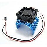 ShareGoo Alloy heat sink Heatsink with 5V Cooling Fan for 1/10 Car 540 550 3650 Size Motor