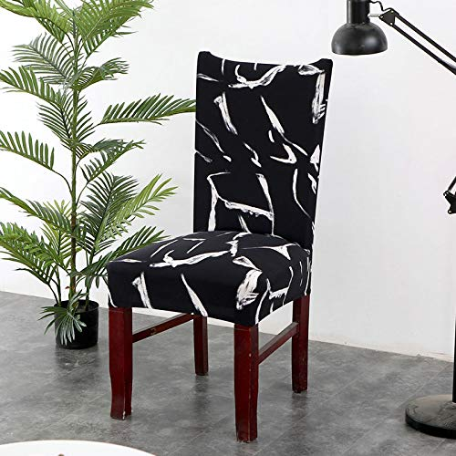 SHANYT The Simple Print of The Chair Cover Leaves The Artist's Chair with an Artistic Anti-Dirty Stretch Cover for The Wedding Banquet. Folding Hotel Chair for The Chair -11, Universal Size ()