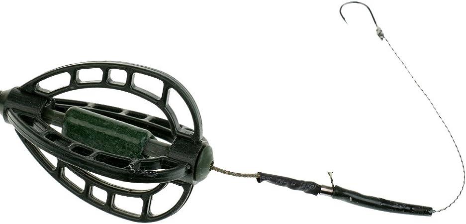MonkeyJack Fishing Carp Coarse Fishing Hair Rig Hook Swivel Set Kit Inline Method Feeder /& Rig