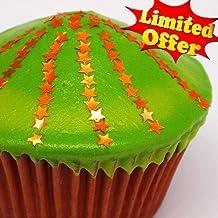 Natural Edible Orange GMO Nuts Gluten Sugar Free Glitter Stars