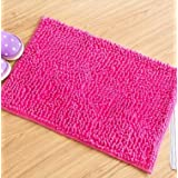 AMEA 4 pcs feet pads, kitchen bathroom mats , bedroom door mat , pink , 60*40cm