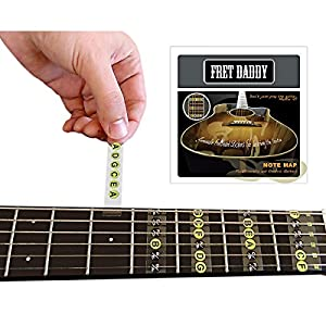 fret daddy the fretboard note map for electric acoustic guitar musical instruments. Black Bedroom Furniture Sets. Home Design Ideas