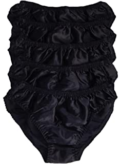 Or Purple Green Mansilk Big and Tall 100/% Silk Bikini Briefs in Black