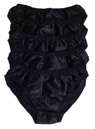 c31b1de1cbcb Qianya Men's Bikini Briefs 100% Pure Silk 5 Pairs In One Economic Pack (L