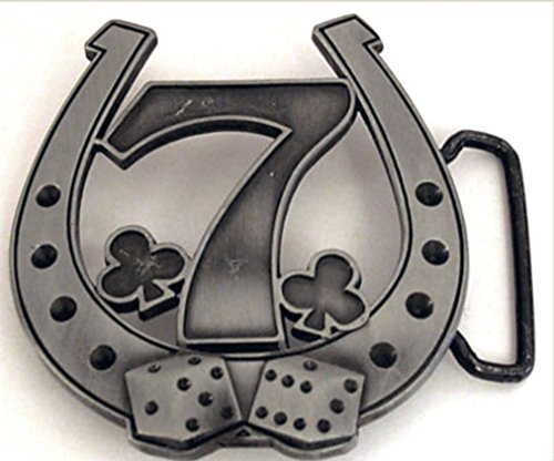 Letter Love Fashion Lucky Horseshoe Belt Buckle Western Cowboy Horse Shoe Las Vegas Casino Dices New - Dice Belt Buckle