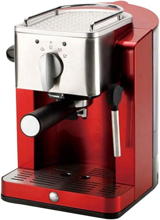 Cafetera Espresso 15 Bares, Cafetera Cappuccino y Latte 850W Boquilla de Espuma de Leche Profesional 1.2 L Tanque de Agua Calentamiento Rápido,Rojo: Amazon.es: Hogar