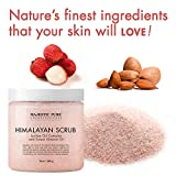 Majestic Pure Himalayan Salt Body Scrub with Lychee Oil, Exfoliating Salt Scrub to Exfoliate & Moisturize Skin, Deep Cleansing - 10 oz