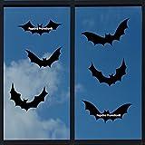 6 x Fledermaus ca. 20 cm Aufkleber aus Hochleistungsfolie Vogelschutz Schutz für Scheiben, Wintergarten , Türen Vogel Aufkleber Sticker