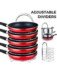 Lifewit Height Adjustable Pan Pot Oraganizer