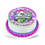 Hatchimals Edible Cake Topper Personalized Birthday 8' Round Circle Decoration Party Birthday Sugar Frosting Transfer Fondant Image ~ Best Quality Edible Image for Cake