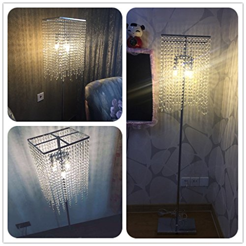 ETERN European luxury crystal floor lamp bedroom living room vertical table lighting by ETERN Floor Lamps (Image #2)