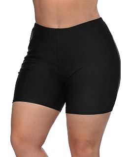 3b53a28d16 V FOR CITY Women's Plus Size Swim Shorts Solid Boardshorts Tankini Bottom  Swimwear Boyshorts