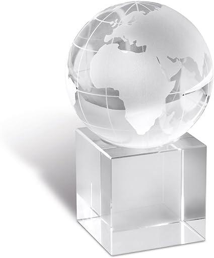 Mappamondo Globo Di Vetro Fermacarte o Trofeo