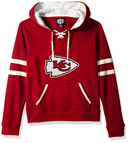 NFL Kansas City Chiefs Women's OTS Grant Lace Up Pullover Hood, Red, Small
