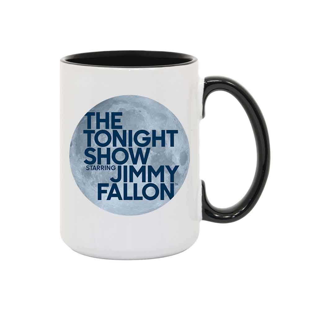 今夜のShow Starringジミーファロンホワイトとブラックマグ 15 oz. PM-21567-JF 15 oz.  B0743JZD3Y