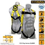 KwikSafety 1 D-Ring Industrial Fall Protection Safety Harness | OSHA Approved Full Body Personal Protection Equipment | Construction Carpenter Scaffolding Contractor Roofing Aerial Security Gear