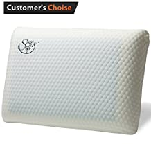Memory Foam Pillow with Cooling Gel - Prevents Back Neck Pain + FREE Bamboo Washable Cover Aloe Vera - for Back Stomach Side Sleepers Men Women - Aids Cervical Pain and Soreness Standard