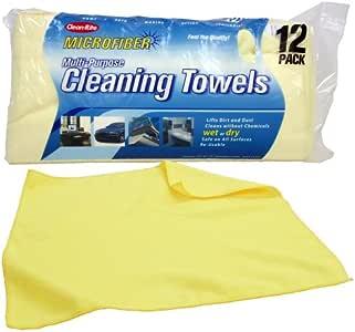 Detailers Choice 7-512 Microfiber Cleaning Towels 12-Pack-1 Each