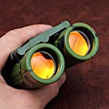 Binoculars for Kids, Cakie Kids Binoculars For Bird watching, Sports, Game, Traveling, Hunting, Outdoor, Toy Binoculars for boys and girls as gift- Army green
