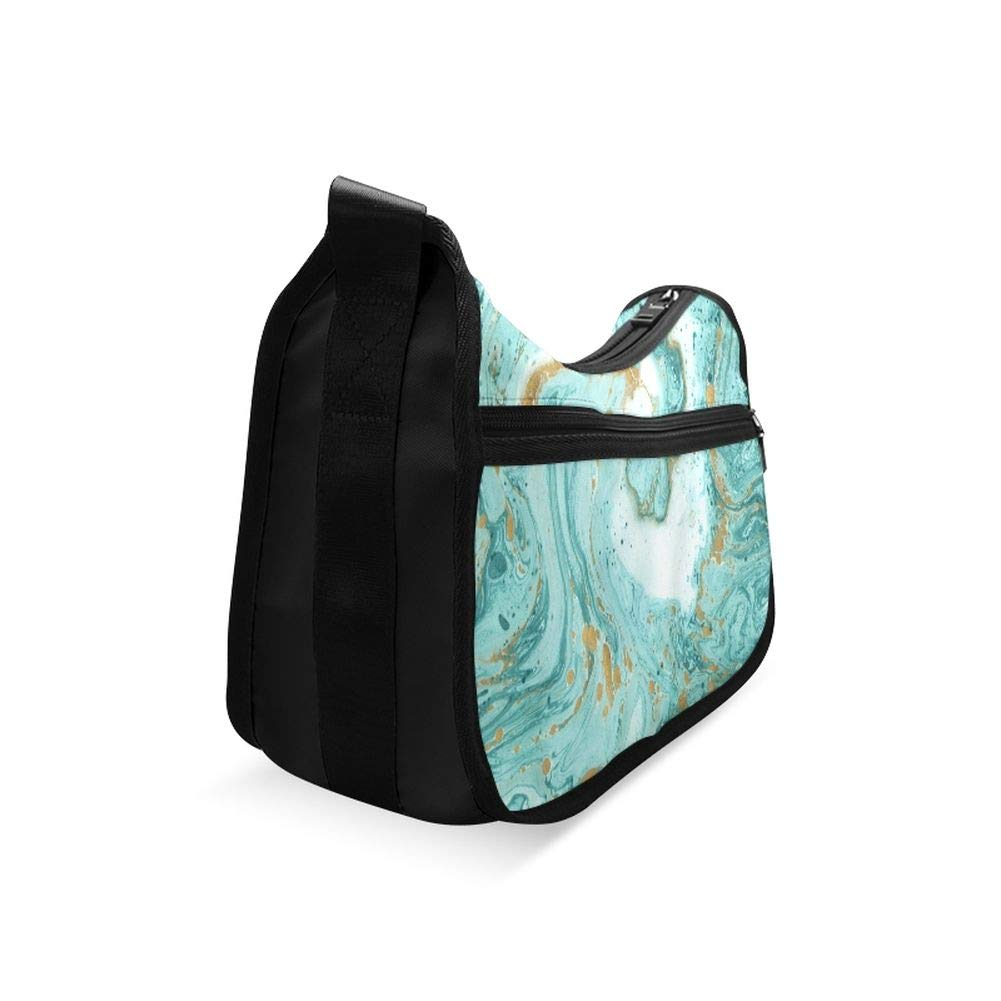 Marble White And Texture Tile Ceramic Messenger Bag Crossbody Bag Large Durable Shoulder School Or Business Bag Oxford Fabric For Mens Womens