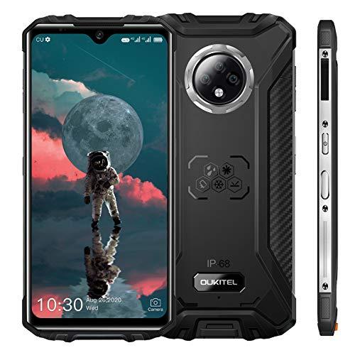"OUKITEL WP8 (2020) Rugged Smartphone, 6.49"" Display, 4GB 64GB Dual SIM IP68 Waterproof Unlocked Cell Phones, 16MP Triple Camera Android 10, 5000mAh Battery Face/Fingerprint ID, GPS NFC, Black"