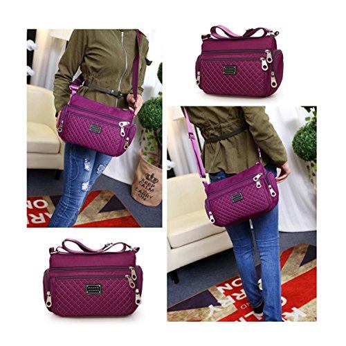 Handbag Ladies Crossbody Women messenger for Purple Shoulder Lightweight bags Water Resistant Veriya 4xqvxHY