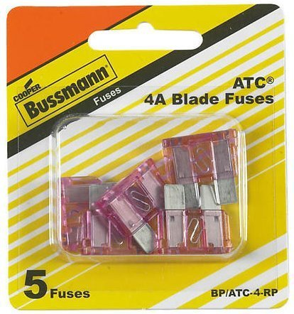 K2500 Fuse (Bussmann ATC-4 Pink ATC 4 Amp Fast-Acting Automotive Blade Fuses - 5 Pack)