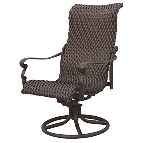Darlee Victoria Rocker Patio Dining Chair in Espresso (Set of 2) Darlee Aluminum Rocking Chairs
