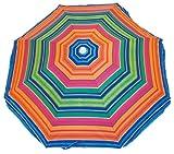 Rio Beach Deluxe Sunshade Umbrella with Valance (6-Feet, Sunset Stripe)