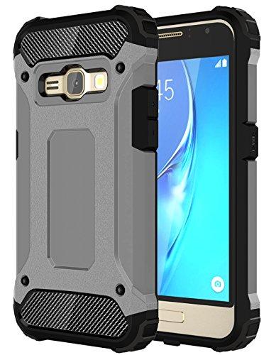 Slim Shockproof Case for Samsung Galaxy J1 (Grey) - 8