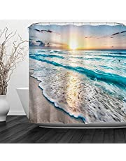 Custom Modern Shower Curtain Set for Bathroom Decor,Teen Kids Shower Curtain 72x72 Waterproof Polyester Fabric Curtain with 12 Hooks