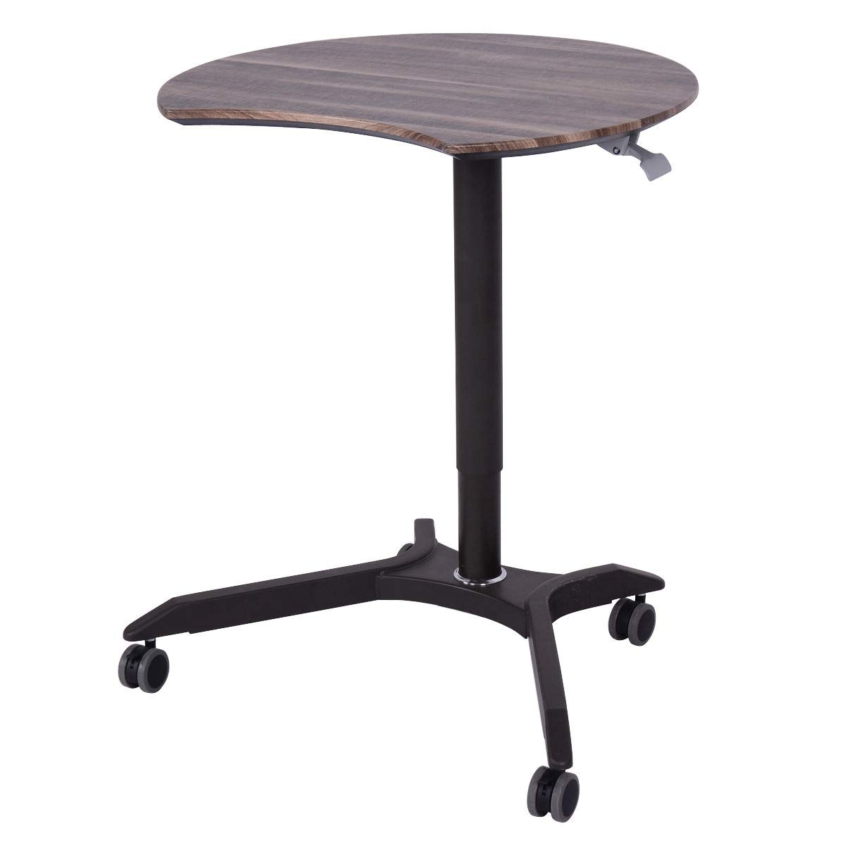 Rolling Laptop Computer Desk Height Adjustable Mobile Workstation Table by AchieveUSA