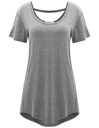 Meaneor Womens Basic Short Sleeve product image