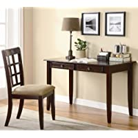 2pc Home Office Writing Desk and Chair in Cherry Finish