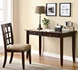 2pc Home Office Writing Desk and Chair in Cherry Finish Review