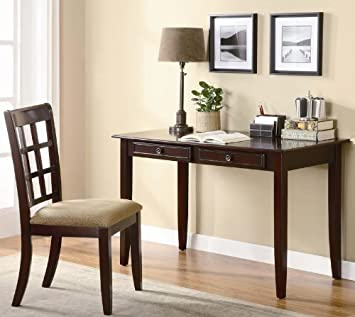 home office writing desk. 2pc home office writing desk and chair in cherry finish