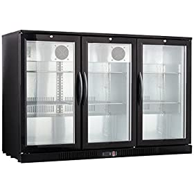 54″ Wide 3-door Back Bar Beverage Cooler