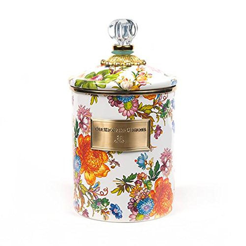 MacKenzie-Childs Flower Market Canister – Stainless Steel Floral Enamel - Multicolor, Kitchen Jar with Lid 5