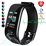 beitony Fitness Tracker, Color Screen Activity Tracker Watch with Blood Pressure Blood Oxygen, IP67 Waterproof Smart Band with Heart Rate Sleep Monitor Calorie Counter Pedometer for Men