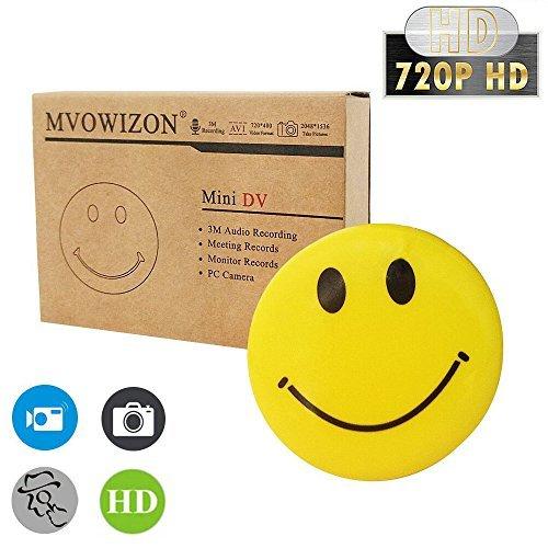 MVOWIZON Spy Cam with Mini Smiley Smile Face Button Pins with camera Spy Camera by MVOWIZON