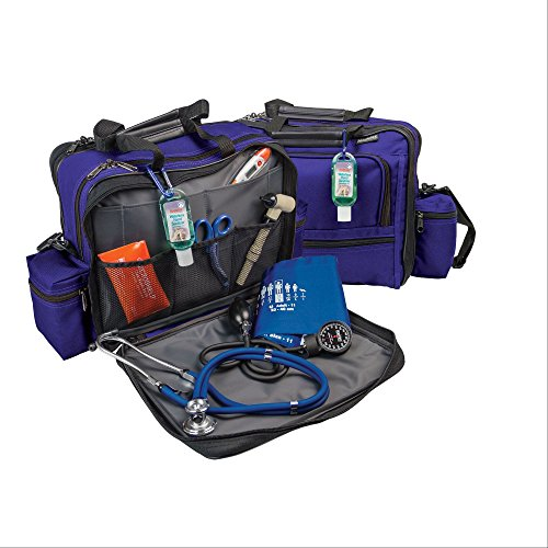 (Hopkins Medical Products Mark V Shoulder Bag with Mini Combo Lock for Nurses and Home Health Professionals - Purple)