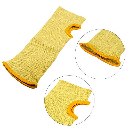 (Cut Resistant Sleeves,MASO 10 18 22 inch Cut Resistant Kevlar Sleeve Arm Protection with Thumb Hole - Yellow for Garden Kitchen Farm Work(22 inch))